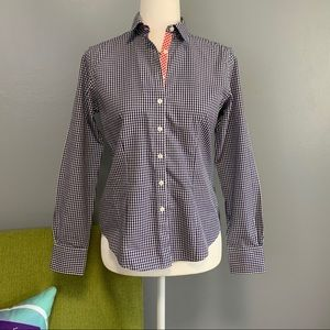 Brooks Brothers Plaid Petite Fitted Button Down